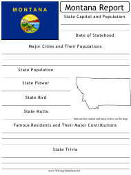 """State Research Report Template"" - Montana"