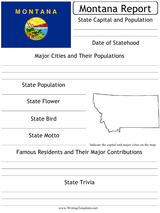 """""""State Research Report Template"""" - Montana Download Pdf"""