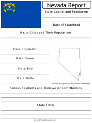 """State Research Report Template"" - Nevada"