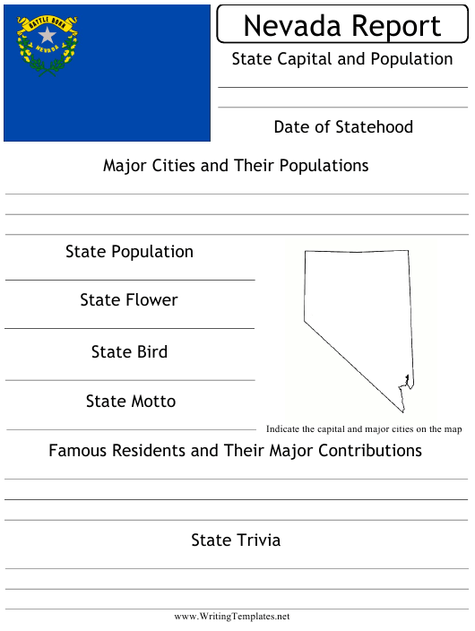"""""""State Research Report Template"""" - Nevada Download Pdf"""