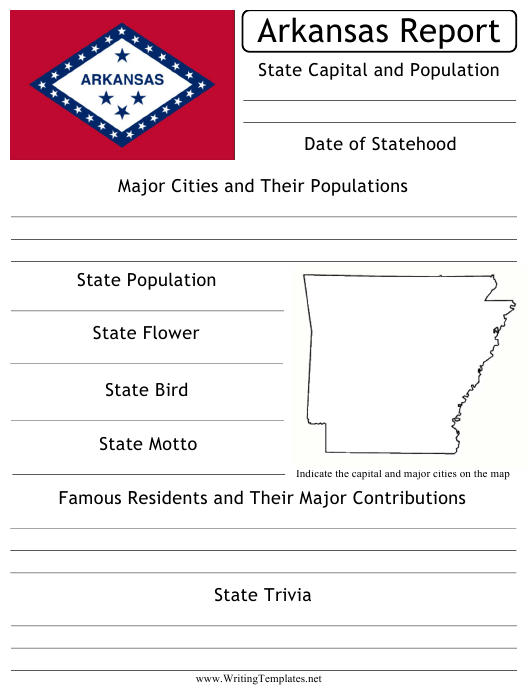 State Research Report Template Download Printable Pdf Templateroller