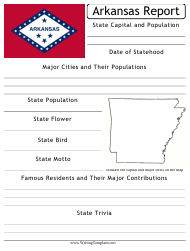 """State Research Report Template"" - Arkansas"