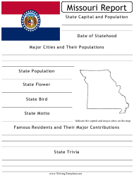 """State Research Report Template"" - Missouri"