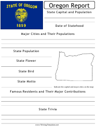 """State Research Report Template"" - Oregon"