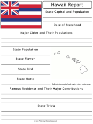 """State Research Report Template"" - Hawaii"