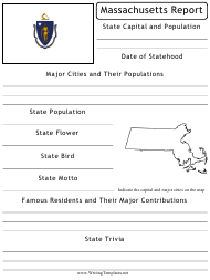 """State Research Report Template"" - Massachusetts"