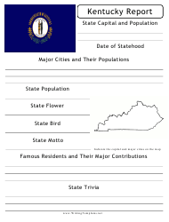 """State Research Report Template"" - Kentucky"