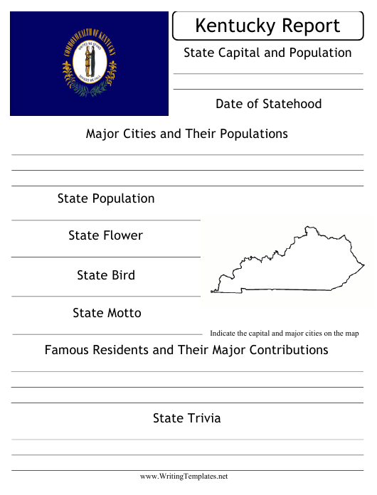 """""""State Research Report Template"""" - Kentucky Download Pdf"""