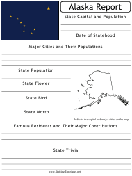 """State Research Report Template"" - Alaska"