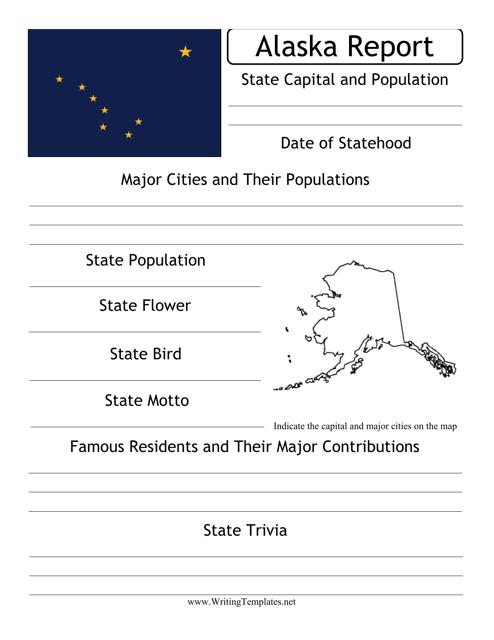 """State Research Report Template"" - Alaska Download Pdf"