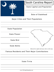 """State Research Report Template"" - South Carolina"