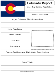 """State Research Report Template"" - Colorado"