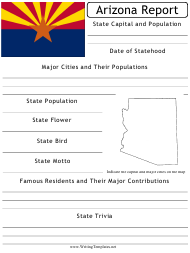 """State Research Report Template"" - Arizona"