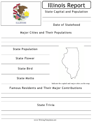 """State Research Report Template"" - Illinois"