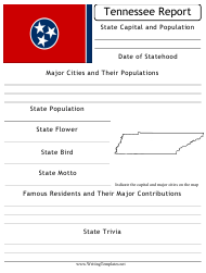 """State Research Report Template"" - Tennessee"