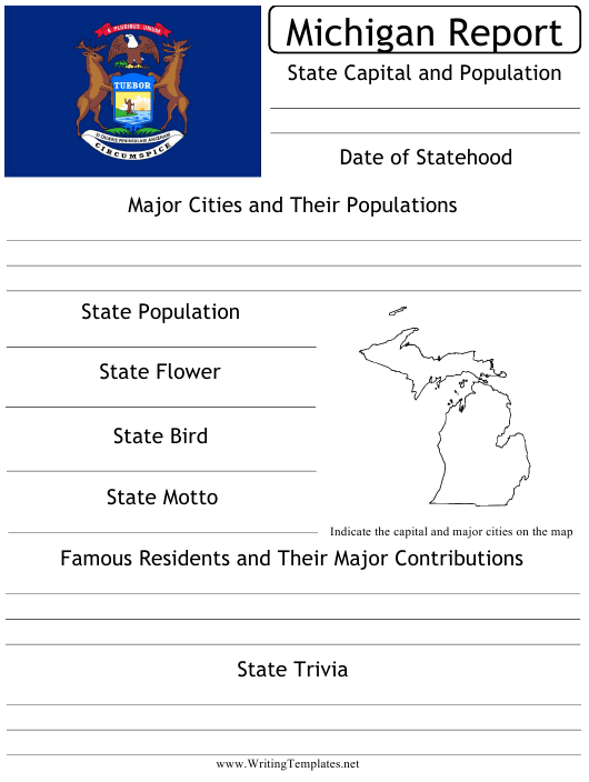 """State Research Report Template"" - Michigan Download Pdf"
