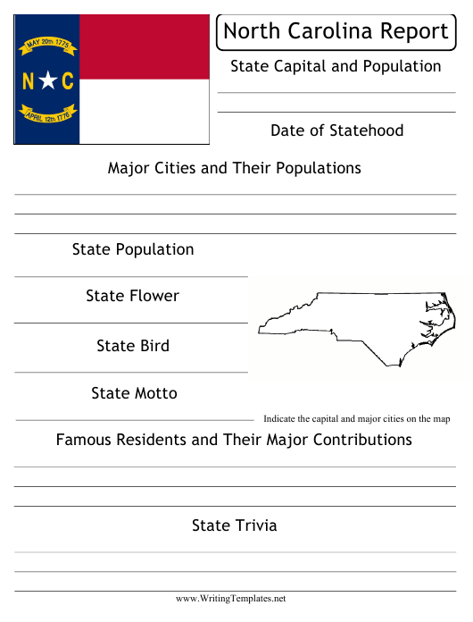 """State Research Report Template"" - North Carolina Download Pdf"