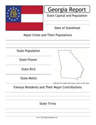 State Research Report Template - Georgia