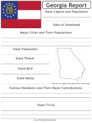 """State Research Report Template"" - Georgia (United States)"