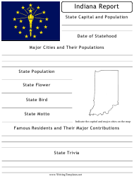 """State Research Report Template"" - Indiana"