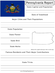 """State Research Report Template"" - Pennsylvania"