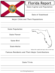 """State Research Report Template"" - Florida"