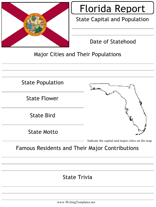 """""""State Research Report Template"""" - Florida Download Pdf"""