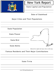 """State Research Report Template"" - New York"