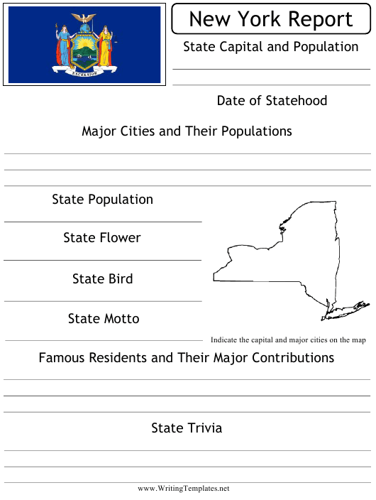 """""""State Research Report Template"""" - New York Download Pdf"""