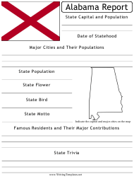 """State Research Report Template"" - Alabama"