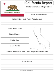 """State Research Report Template"" - California"
