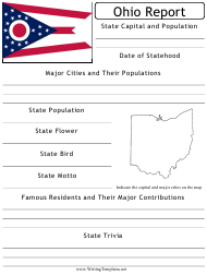 """State Research Report Template"" - Ohio"