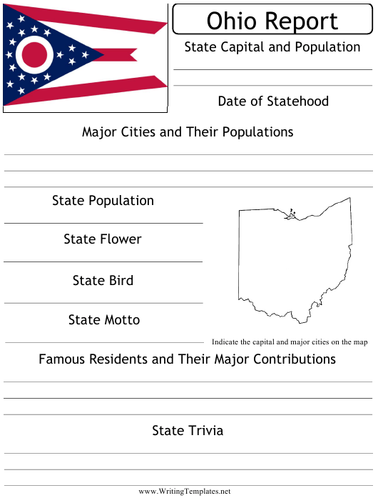 """State Research Report Template"" - Ohio Download Pdf"