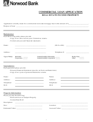 """Commercial Loan Application Form - Norwood Bank"" - Massachusetts"