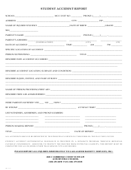 Student Accident Report Form - Gallagher Bassett Services - Michigan