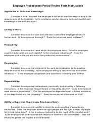"""""""Employee Probationary Review Form"""""""