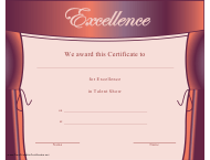 """Talent Show Certificate of Excellence Template"""