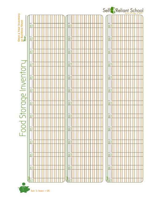 food storage inventory template self reliant school download pdf