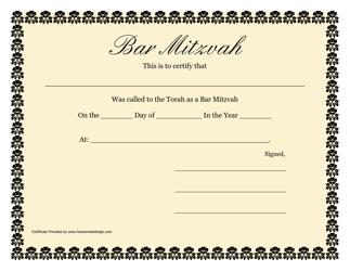 """Bar Mitzvah Certificate Template"""