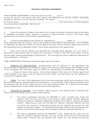 """Security Escrow Agreement Template"" - New Mexico"