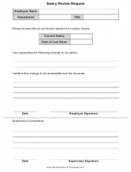 Salary Review Request Form