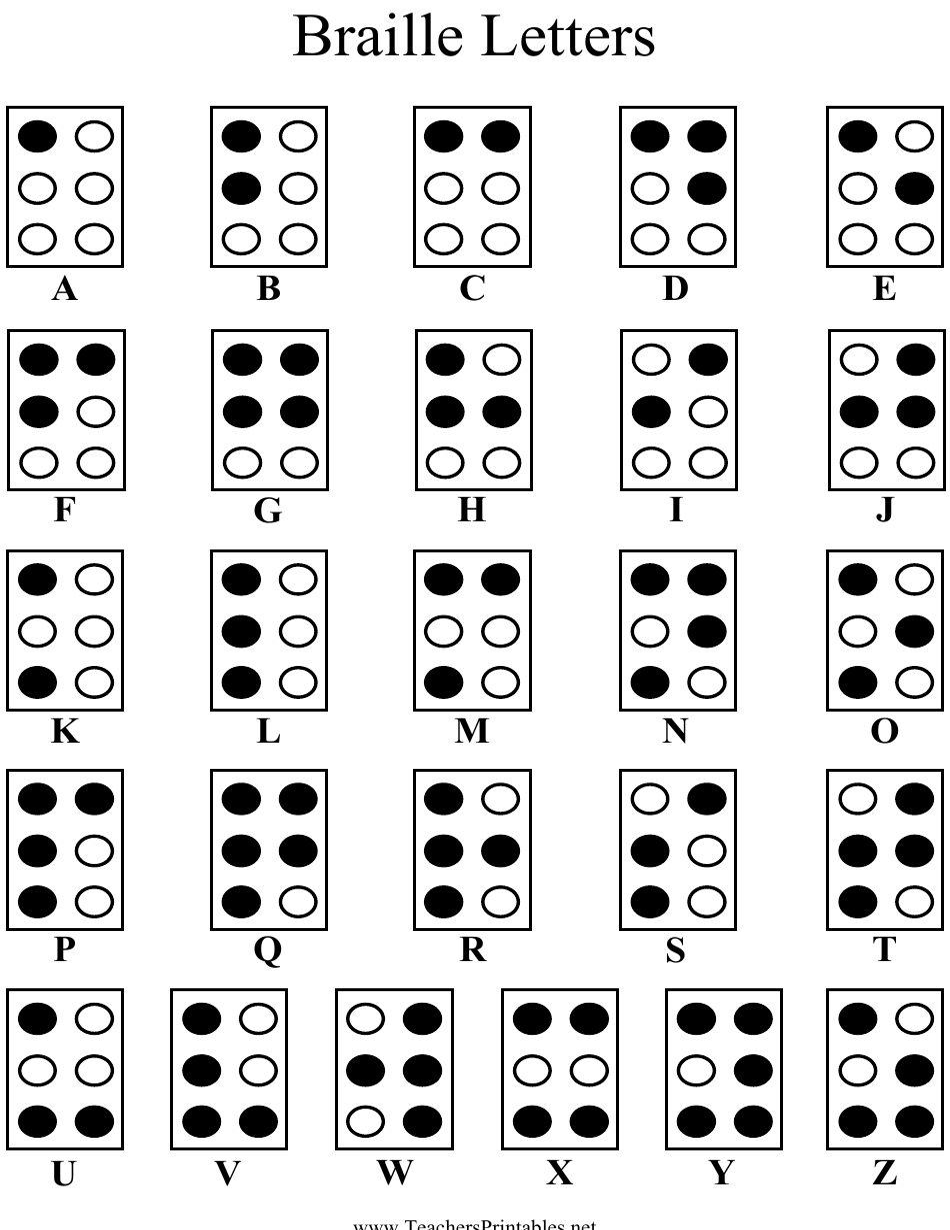 Braille Alphabet Letter Chart Download Printable Pdf Templateroller