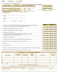 Form STU 0002-07-99-BT Oklahoma Consumer Use Tax Report - Oklahoma