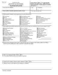 "BLM Form 1114-10 ""Volunteer Application"""