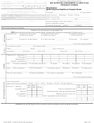 """Form DHHS-2822A """"Wic Nutrition Assessment for Pregnant Women"""" - North Carolina"""