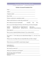 """Nutrition Assessment/Consultation Form - Victoria Shanta Retelny"""