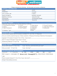 """""""Nutrition Assessment Form - Heb Health and Wellness"""""""