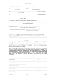 Mortgage Gift Letter Template