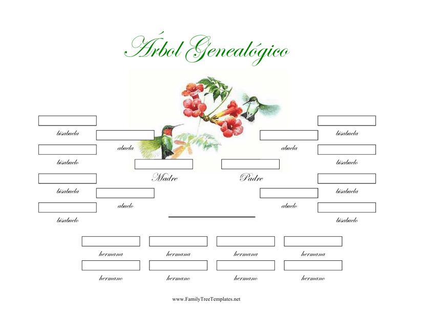 """""""4 Generacion Arbol Genealogico Con Hermanos"""" (Spanish) Download Pdf"""