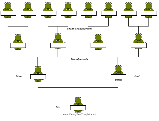 """4-generation Family Tree Template - Dinosaurs"" Download Pdf"